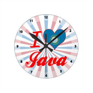 Amo Java, Dakota del Sur Relojes De Pared