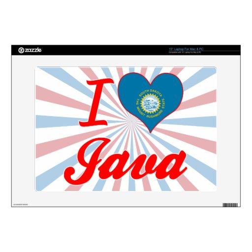 Amo Java, Dakota del Sur 38,1cm Portátil Calcomanía