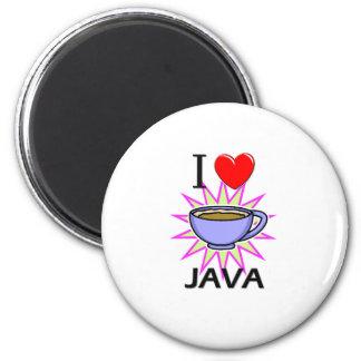 Amo Java Imán Redondo 5 Cm