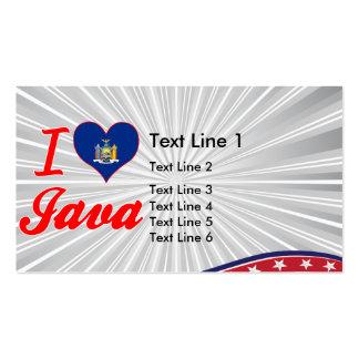 Amo Java, Nueva York Plantilla De Tarjeta De Visita