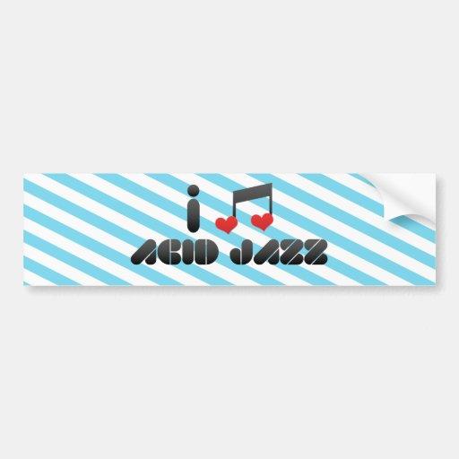 Amo jazz ácido pegatina para auto