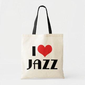 Amo jazz bolsa lienzo