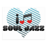 Amo jazz del alma postal