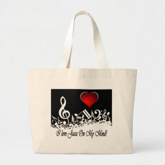 Amo jazz en mi ciudad Scape de la mente Bolsas