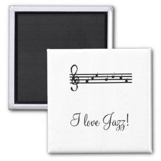 ¡Amo jazz - imán