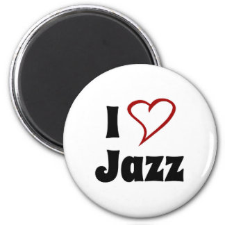 Amo jazz imán redondo 5 cm