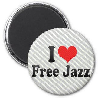 Amo jazz libre iman de frigorífico