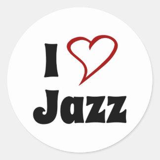 Amo jazz pegatina redonda