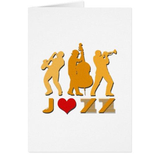 Amo jazz tarjeta de felicitación