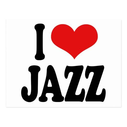 Amo jazz tarjeta postal