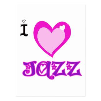 AMO jazz Tarjetas Postales