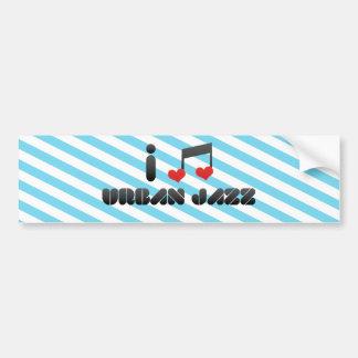 Amo jazz urbano etiqueta de parachoque