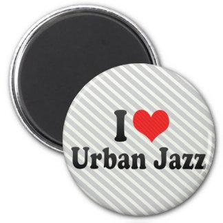 Amo jazz urbano imán de frigorifico