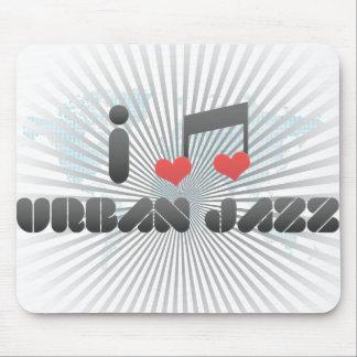 Amo jazz urbano tapetes de ratón