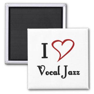 Amo jazz vocal imán para frigorifico