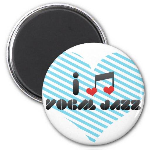 Amo jazz vocal imán redondo 5 cm