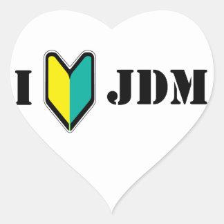 Amo JDM Pegatinas De Corazon