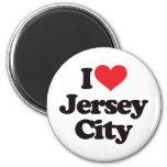 Amo Jersey City Imán De Frigorífico