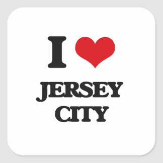 Amo Jersey City Pegatina Cuadrada