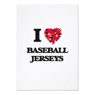"""Amo jerseys de béisbol invitación 5"""" x 7"""""""