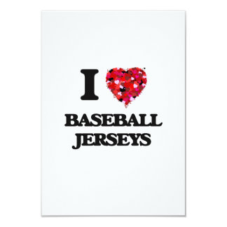 """Amo jerseys de béisbol invitación 3.5"""" x 5"""""""