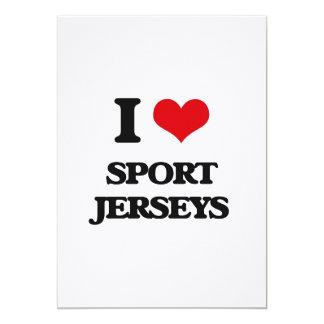"""Amo jerseys del deporte invitación 5"""" x 7"""""""