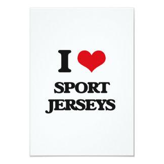 """Amo jerseys del deporte invitación 3.5"""" x 5"""""""