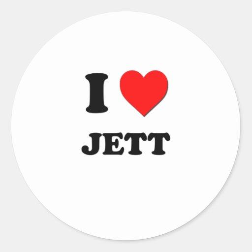 Amo Jett Etiqueta Redonda