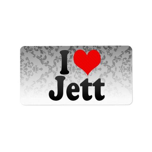 Amo Jett Etiquetas De Dirección