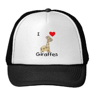 Amo jirafas 2 gorros