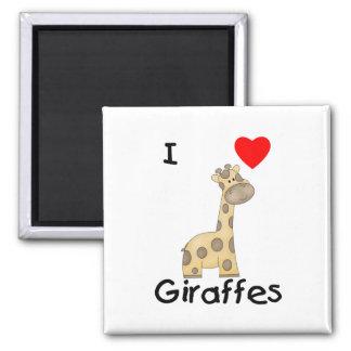 Amo jirafas 2 imanes de nevera