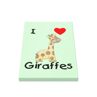 Amo jirafas 2 lona envuelta para galerias