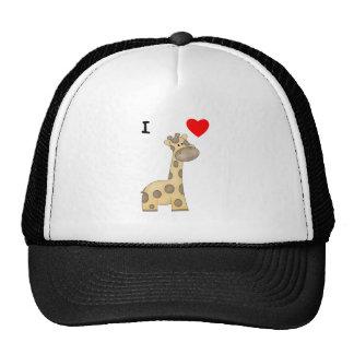 Amo jirafas 3 gorras