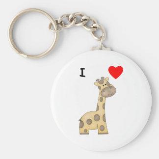 Amo jirafas 3 llavero personalizado