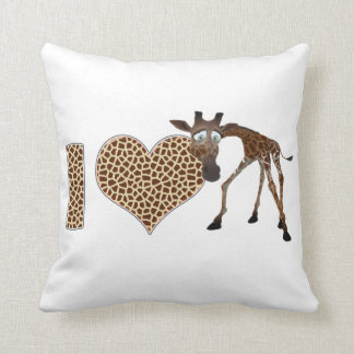 Amo jirafas cojín decorativo