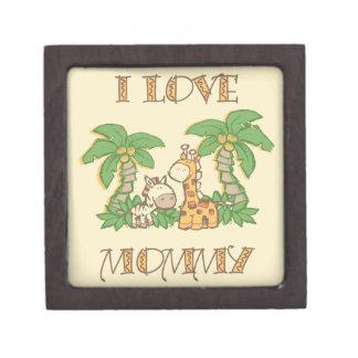 Amo jirafas de la mamá cajas de recuerdo de calidad