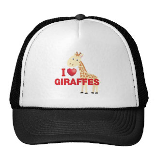 amo jirafas gorro