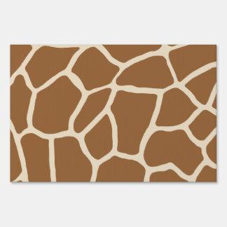 Amo jirafas letreros