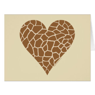 Amo jirafas tarjeta de felicitación grande