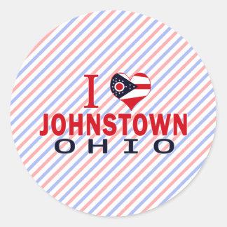 Amo Johnstown Ohio Pegatinas Redondas
