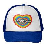 Amo Jonatán. Te amo Jonatán. Corazón Gorras De Camionero
