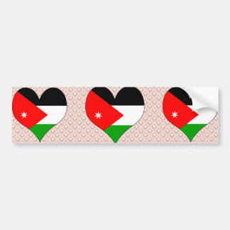 Amo Jordania Etiqueta De Parachoque