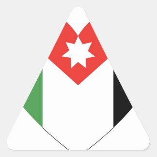 Amo Jordania Pegatina Triangular