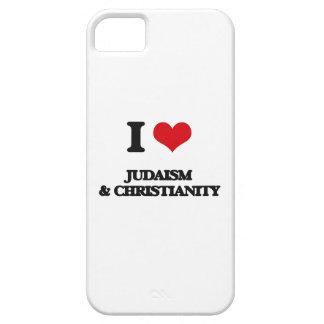 Amo judaísmo y cristianismo iPhone 5 carcasa