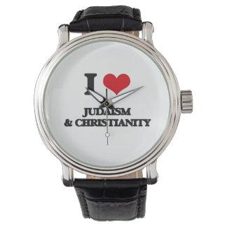 Amo judaísmo y cristianismo reloj