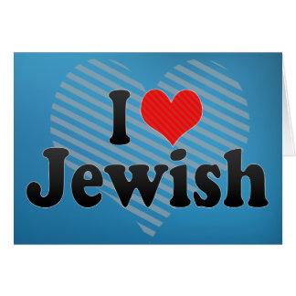 Amo judío tarjeta de felicitación