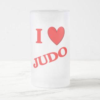 Amo judo taza de café
