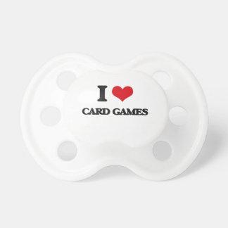 Amo juegos de tarjeta chupetes de bebe