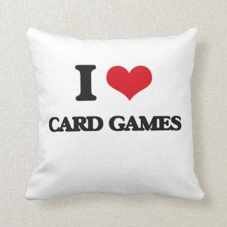 Amo juegos de tarjeta almohada
