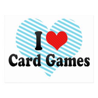 Amo juegos de tarjeta tarjeta postal